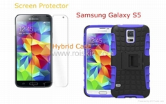 phone case for samsung s5 and screen protector for s5