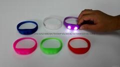 sound sensor LED wristband silicone bracelet