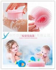 硅胶洗澡按摩刷