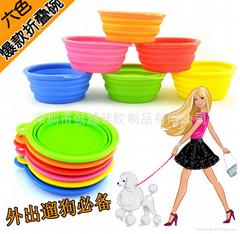 新款硅胶宠物折叠碗
