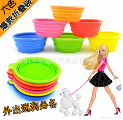 新款硅膠寵物折疊碗