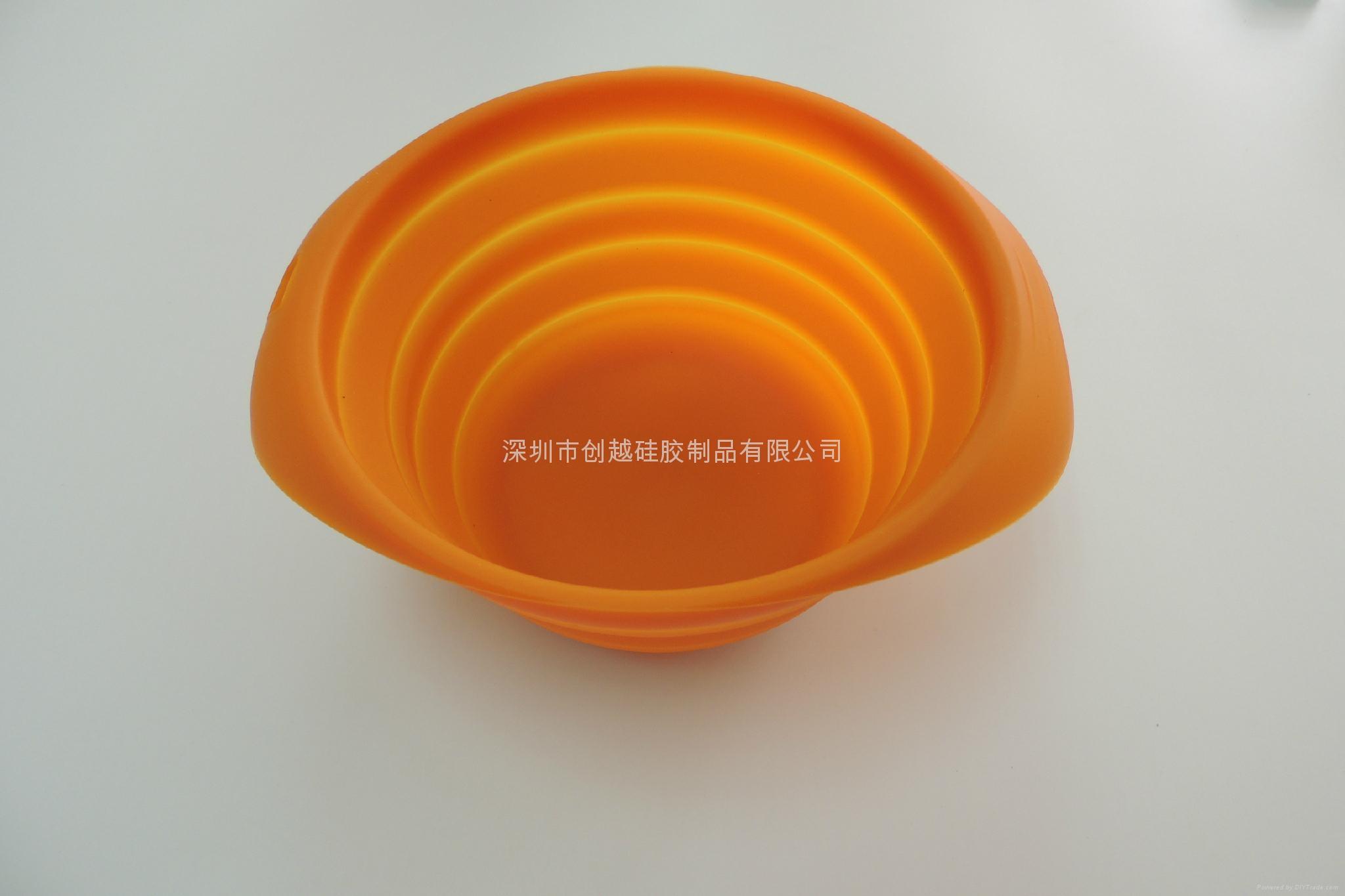 新款硅膠寵物折疊碗  2