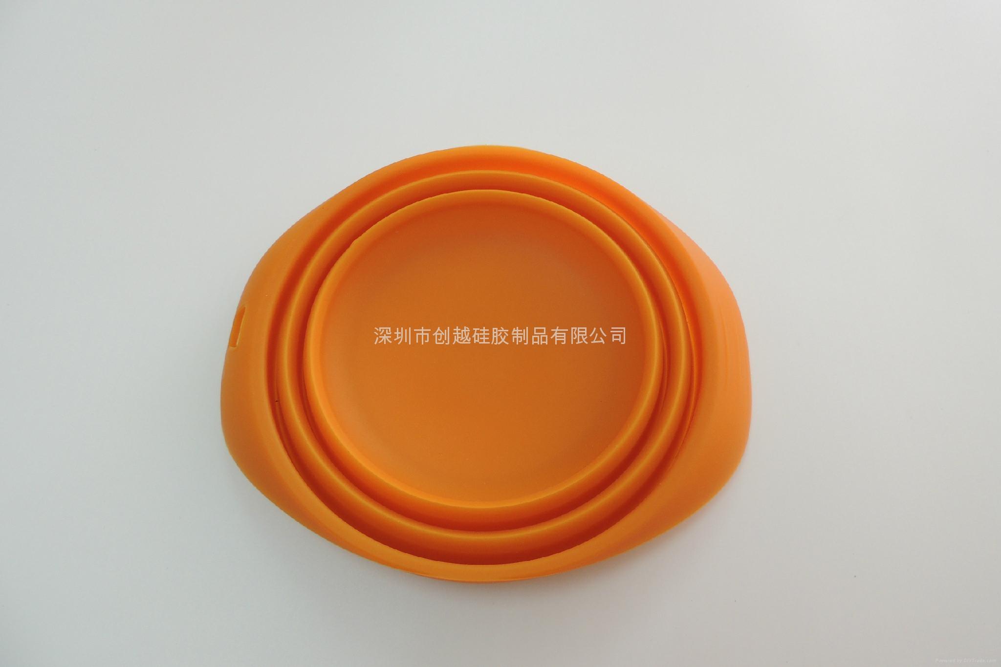 新款硅膠寵物折疊碗  4