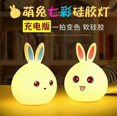 Hand Pat Lights Portable Popular Bunny Shape LED Mood Night Light