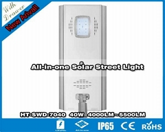 Hitechled 40w All in One Integrated Solar LED Street Light with drawer