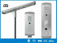 Hitechled A2 Series all-in-one solar street light lampara solar todo en uno