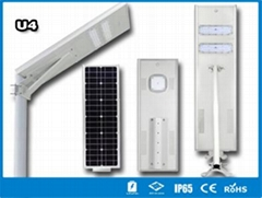 Hitechled U4 series all-in-one solar street light Lamparas solares todo en uno