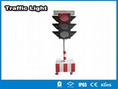Hitechled  solar LED traffic light semaforos LED solares, lamparas de trafico