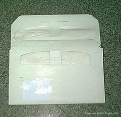 1/2 folding disposable toilet seat paper cover
