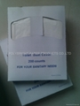 1/4 folding disposable toilet seat paper