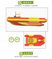 水上救生艇遥控机器人遥控救生船充气艇防汛救灾 2