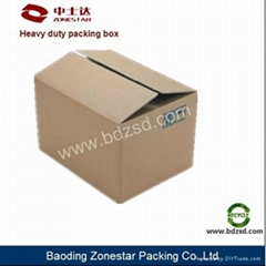 High intensity corrugated carton box