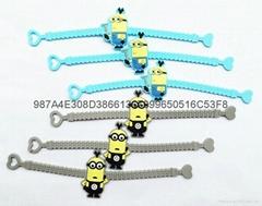 供应优质卡通PVC软胶手腕带(环保材料)儿童手腕带 滴胶手腕带