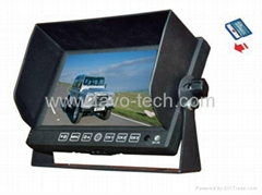 7inch (16:9) Car monitor with Built-in DVR 1 Channel & AV Input