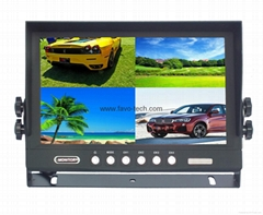 DC12-24V 9 inch car quad monitor for truck