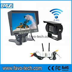 7 Inch wireless cctv camera system for Excavators