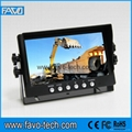 High Resolution 800*480 digital panel 7 Inch Buldozer Monitor