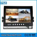 DC12-24V 9 inch car quad monitor for