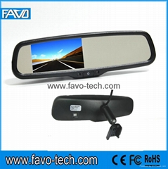 "Auto Dimming 4.3"" car rear view mirror car monitor"