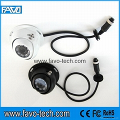 CCD Sensors Black dome style caravan camera for surface mounting with 120 degree