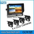 DC12V & 24V 7 inch quad security camera system