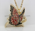 Butterfly necklace solid perfume for famale
