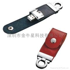 真皮U盘皮套USB厂家皮质商务优盘工厂