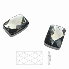 13×18长方形网面双孔压克力钻