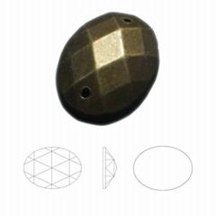 15*20椭圆网面电镀双孔压克力钻
