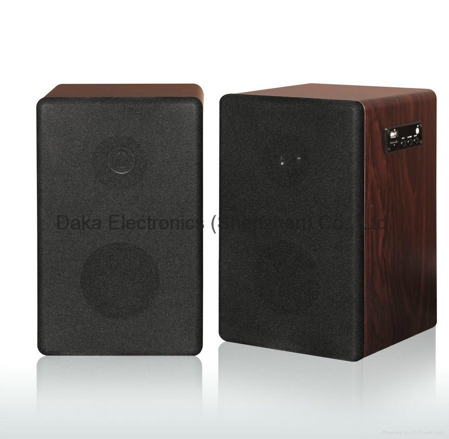 2.4G Hz Wireless Stereo Speakers Box with FM radio & Remote Contorl 1