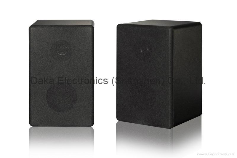 2.4G Hz Wireless Stereo Speakers Box with FM radio & Remote Contorl 2