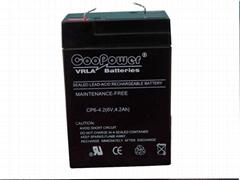 6V 4Ah battery