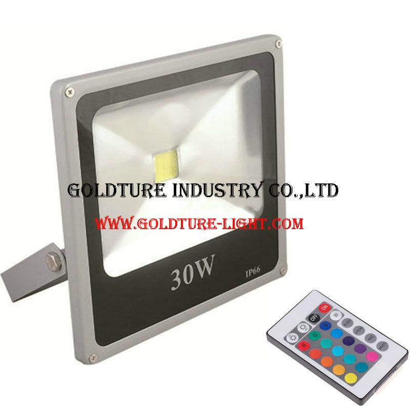 RGB Flood Light 30W COB Outdoor Floodlight IP65 Waterproof 1