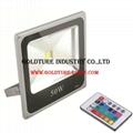 RGB Floodlight 50W COB Flood Lamp 4500lm