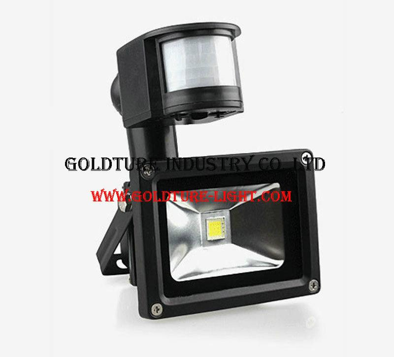 10W PIR Infrared Motion Sensor LED Flood Light 90LM PIR Motion Sensor LED Flood