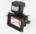 10W PIR Infrared Motion Sensor LED Flood Light 90LM PIR Motion Sensor LED Flood