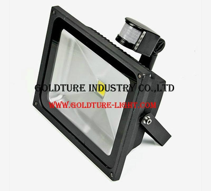 20W Refletor LED Flood Light Searchlight With Pir Motion Sensor 220v Floodlight  1
