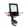 LED Flood Lights With Sensor 20W Motion Sensor Floodlights Pir Induction