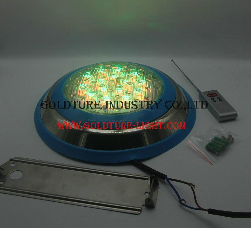 pool lights remote control 54W Underwater light ip 68 4