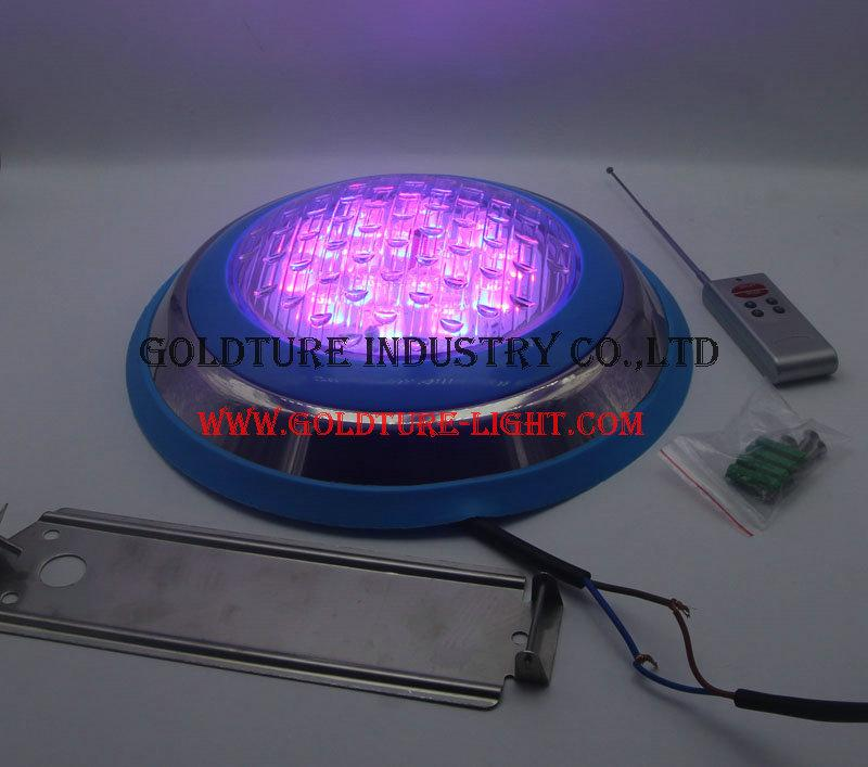 multi color led pool light wall mounted 45W Underwater Lamp