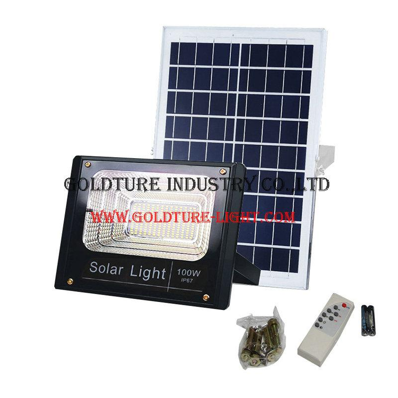 Solar Floodlight Outdoor Flood Spotlight with Remote Controller 1