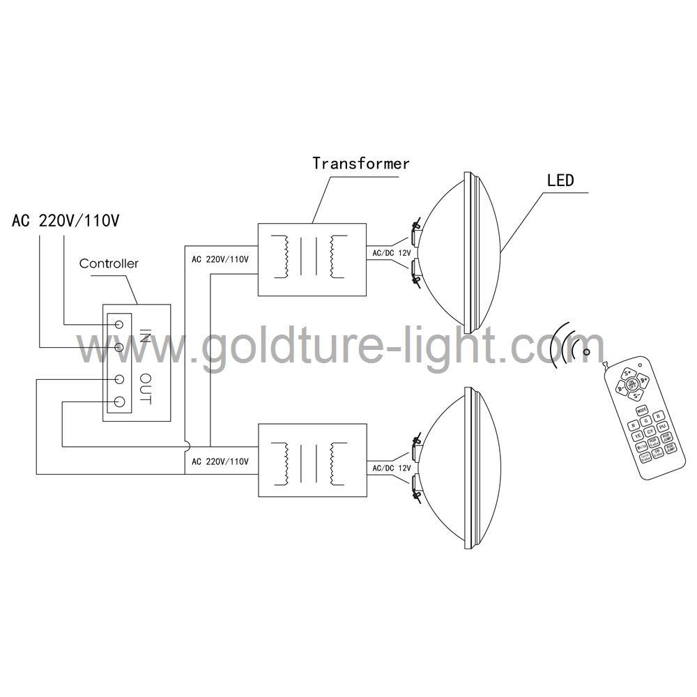 luz piscina 12v Pool Light LED PAR56 22W RGB Spa Lamp IP 68 Water proof Warm Whi 4