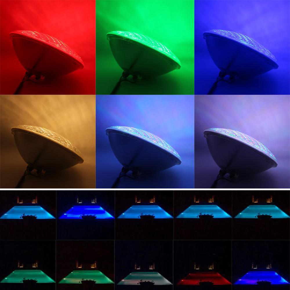 luz piscina 12v Pool Light LED PAR56 22W RGB Spa Lamp IP 68 Water proof Warm Whi 5