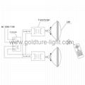 pool light par56 18W 252 leds Underwater Piscina RGB for concrete IP68 4