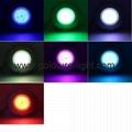 multi color led swimming pool light 15W Underwater Pond Lighting 12V 3