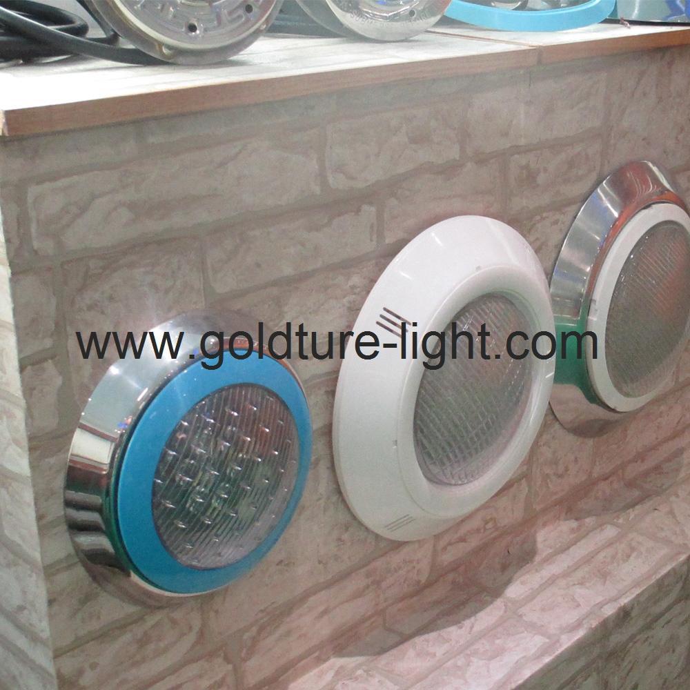 multi color led swimming pool light 15W Underwater Pond Lighting 12V 5