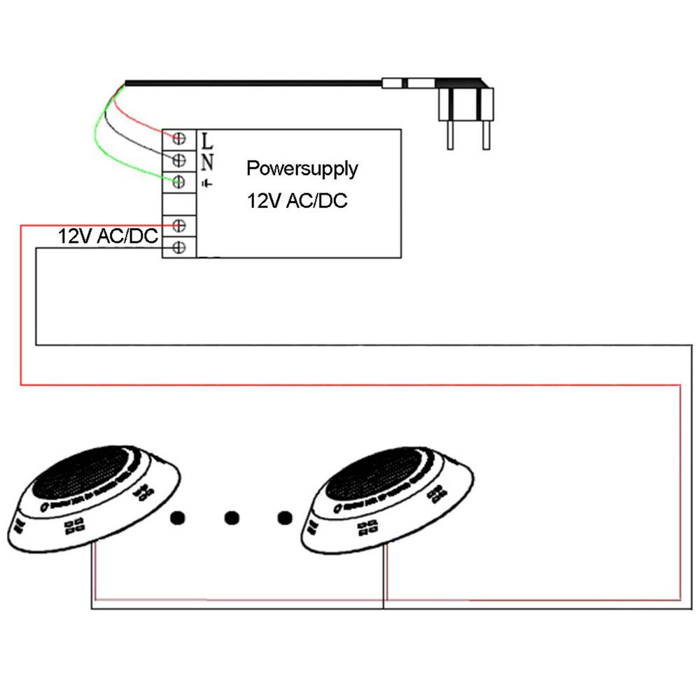 wall mounted led swimming pool lights RGB 12V 72W 2