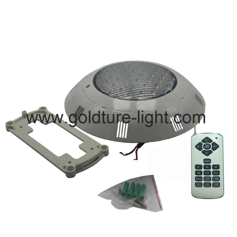 led surface mounted pool light 60W RGBW Pond Lighting IP68 1