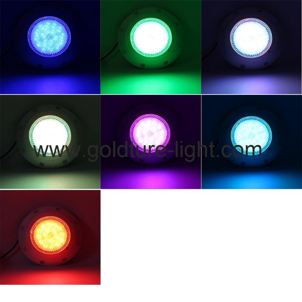 ip68 waterproof led pool light 18w RGB multicolor 12V 3