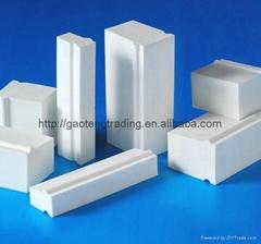 Good hardness and economic ball mill alumina lining brick